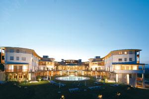 Design hotelu podle teorie zlatého řezu,  který byl již ve středověku ztělesněním harmonie. Foto: Hotel Larimar