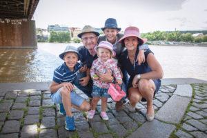 Kristýna Přibylová s rodinou