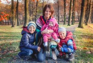Kristýna Přibylová s dětmi