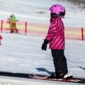 Zimní lyžování, malý dobrodruh