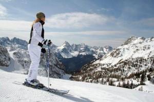 zima, dovolená, katalog, lyžování