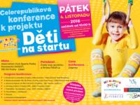 Konference o zdravém životním stylu dětí proběhne v pátek 4. listopadu v pražské Aréně Sparta. Foto: www.detinastartu.cz