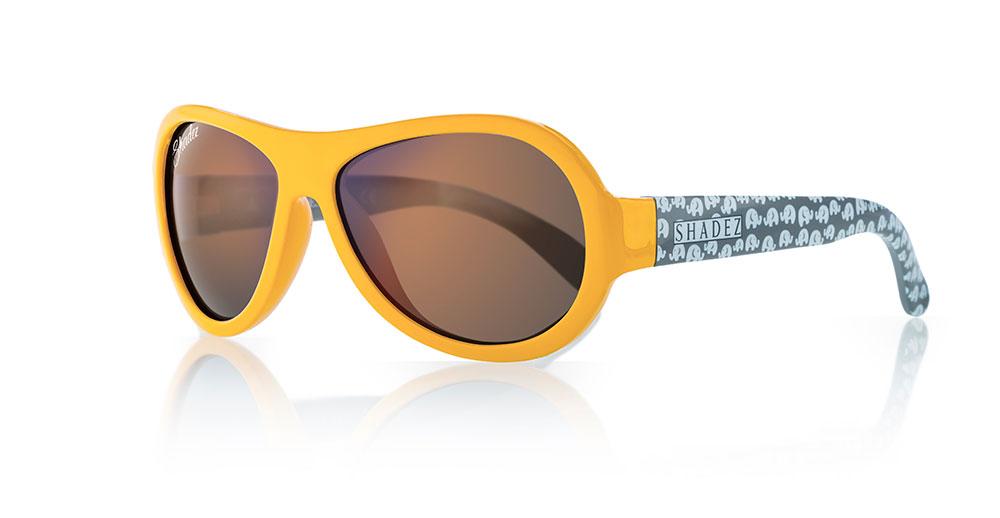 Miminkovské sluneční brýle Shadez Designers - Elephant Yellow.