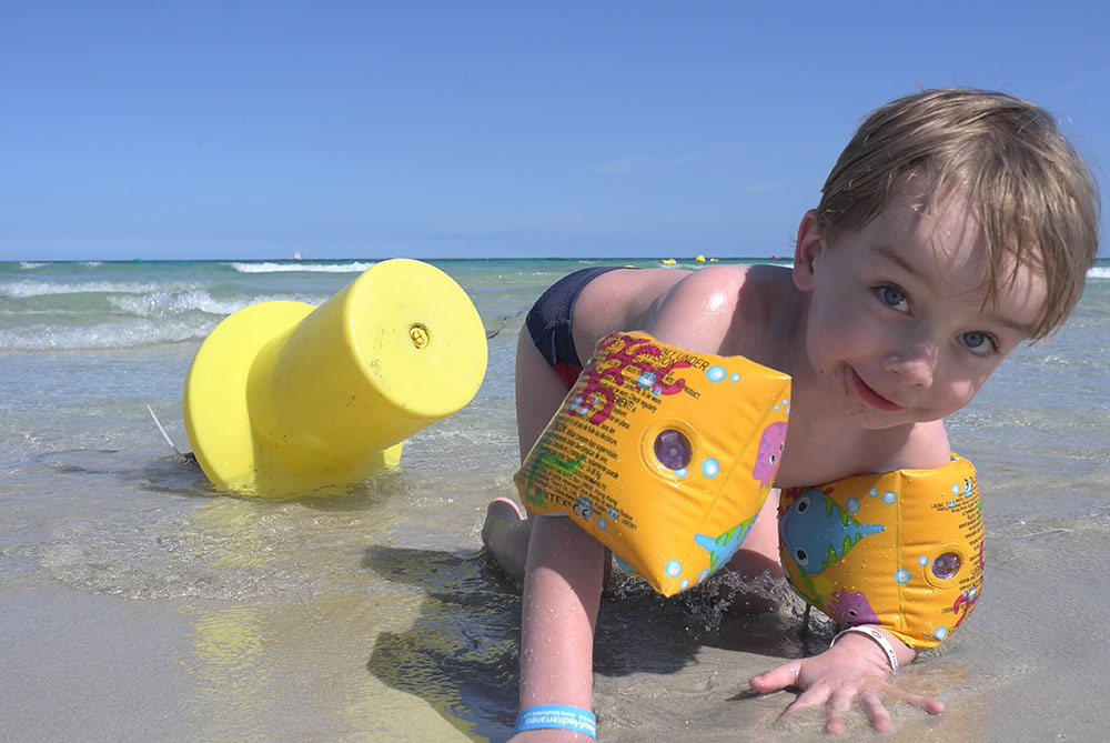 Baby club Juklík dítě u moře