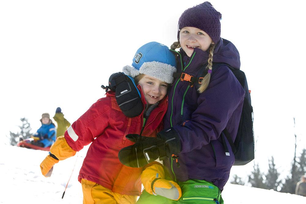 Juklík - děti na sněhu