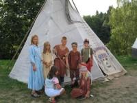 Indiánský tábor - Westernové městečko Šiklův mlýn. Foto: www.tabory-vysocina.cz