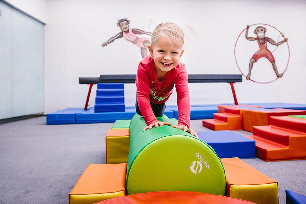 Cvičení dětí v Monkey´s Gym