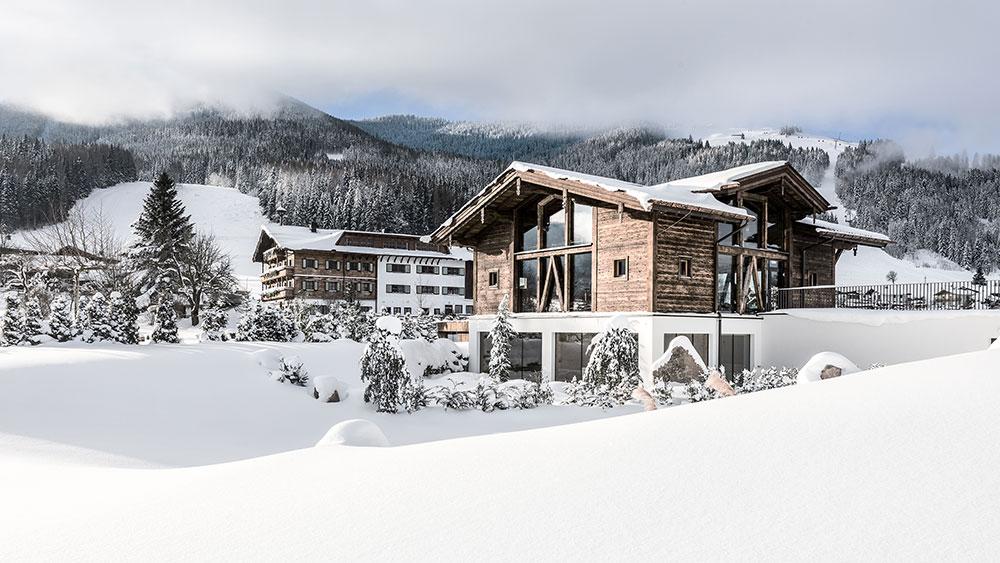Hotel Puradies v rakouském Leogangu.
