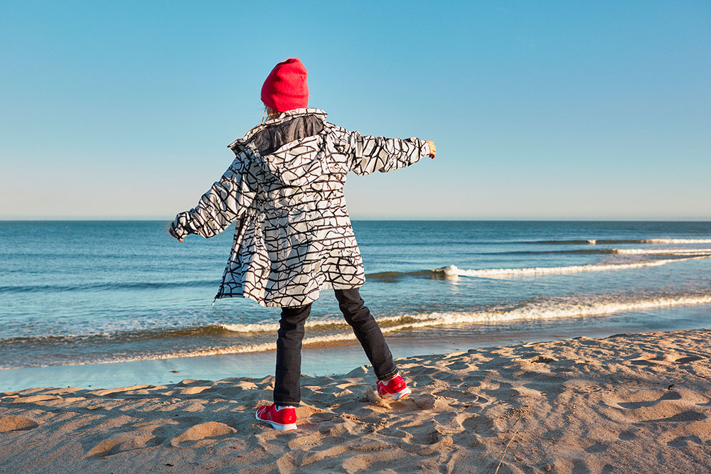 Vychytaná membránová bunda pro holky Reima Marine