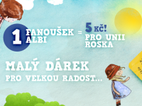 Staňte se fanoušky ALBI na Facebooku a Unie Roska obdrží 5 Kč. Foto:www.albi.cz