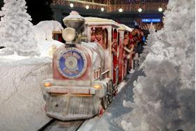 Polární vlak, Olympia, Brno, nákupní centrum, Vánoce, zábava, Malý dobrodruh
