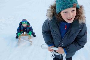 Děti v zimě, Malý dobrodruh