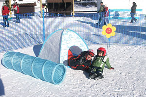 Snowkidz, Harrachov, lyžování, dětský vlek, funpark, Malý dobrodruh